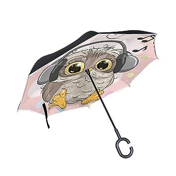 Bonito Paraguas Con Diseño De Búho De Dibujos Animados Con