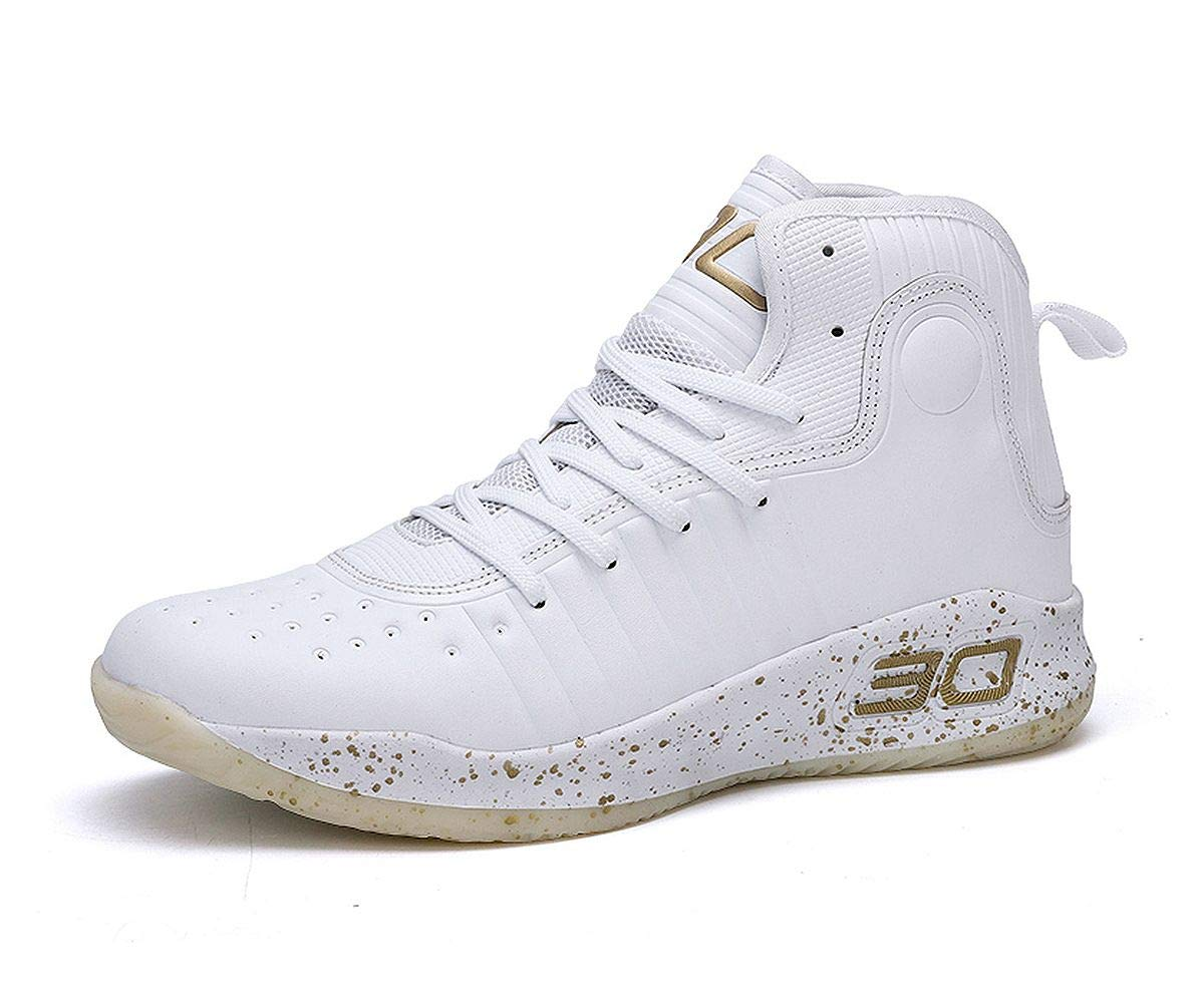 JIYE Performance Basketball Shoes Women's Sports Running Sneakers,White,39EU=6.5US-Men/8US-Women by JIYE