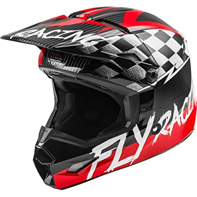 Fly Racing 2020 Youth Kinetic Helmet - Sketch (Small) (RED/Black/Grey): Automotive