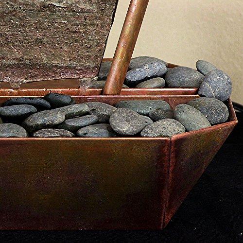 Sunnydaze Phoenix Tabletop Fountain, Copper, 20 Inch by Sunnydaze Decor (Image #4)