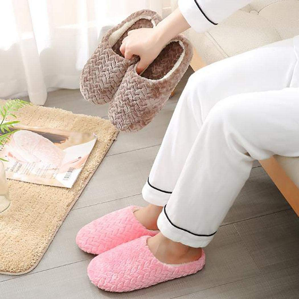 pioleUK Unisex Fashion Soft Warm Solid Abriebfeste Baumwollhausschuhe Hausschuhe