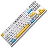 87Keys High-End Mechanical Keyboard with Cherry MX Red Switch for Windows and Mac (White)
