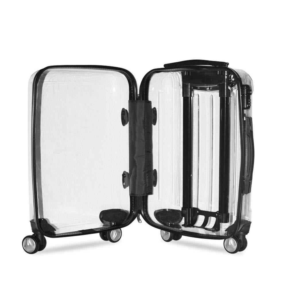 G/én/érique Valise Transparente 20 Pouces Taille PC Rolling Luggage Spinner Roue Valises Femmes Bagages /à Main Hommes Voyage Box