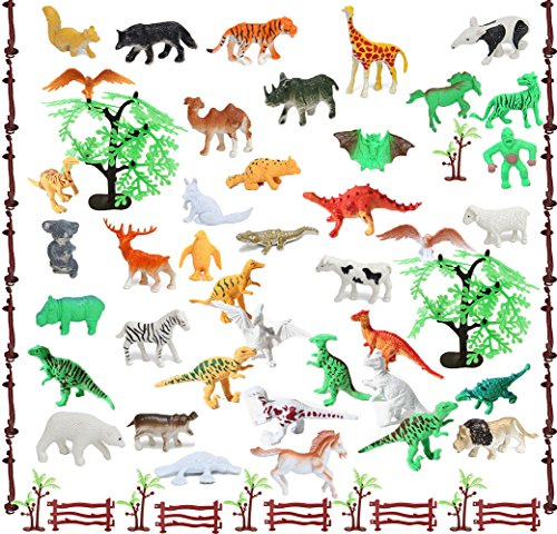 Prairie Animals - Etmact 68 Piece Set of Animals Figures and Accessories