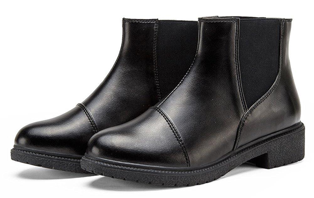 Easemax Femme Classique Low Boots Petit Talon Bottines  Amazon.fr   Chaussures et Sacs 9e3a316f97db