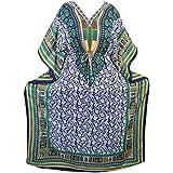 Womens Kimono Caftan Dashiki Print African Kaftan Cover Up Maxi Dress One Size XXL