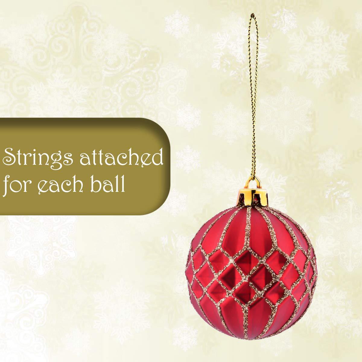 Amazon.com: V&M VALERY MADELYN 30ct Shatterproof Christmas Ball ...
