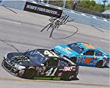 2X AUTOGRAPHED Kyle Busch & Kurt Busch 2016 Brothers Racing (#18 Banfield Pet Hospital - #41 Haas CNC) Sprint Cup Series Dual Signed 8X10 Inch Picture NASCAR Glossy Photo with COA