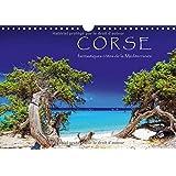 Corse - fantastiques côtes de la Méditerranée : Eté, soleil, plage et mer. Calendrier mural A4 horizontal