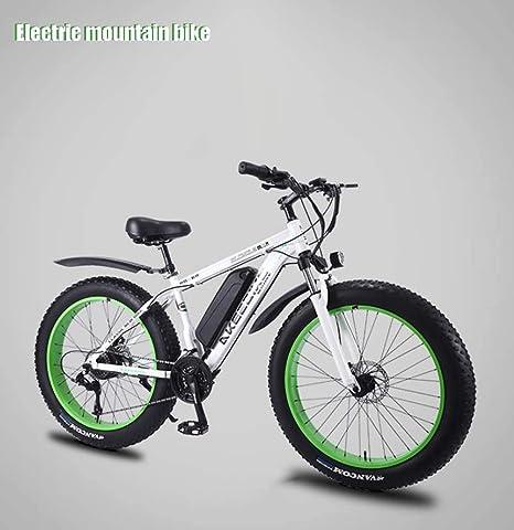 AISHFP Mens Adultos Bicicleta eléctrica de montaña, extraíble 36V ...