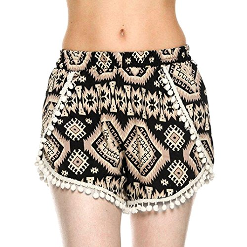 DaySeventh Women Sexy Hot Pants Summer Casual High Waist Beach Shorts (L, Khaki) (Womens Clothing : Khaki Accessories)