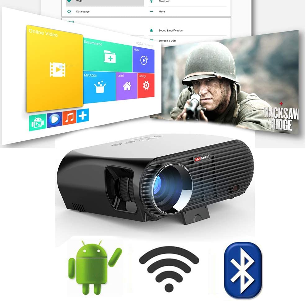 Link Co Android Inteligente Proyector Inalámbrico WiFi 1080p LED ...