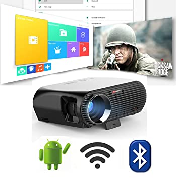 Link Co Android Inteligente Proyector Inalámbrico WiFi 1080p ...