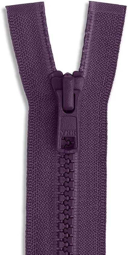 "YKK ® #5 Vislon Molded Plastic Zippers Closed Bottom 5″ to 36"" Color Black"