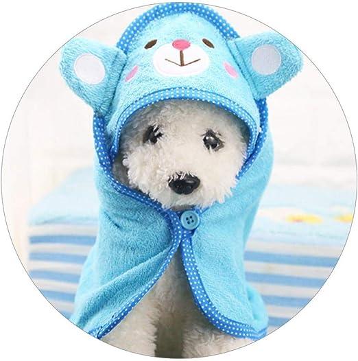 Toalla Cachorro De Perro Mascota Gato De La Historieta De Baño Kate Capucha Toalla De Baño Multifunción Perro Grande Y Absorbente Albornoz Manta Caliente Mascota del Perrito Suministros: Amazon.es: Productos para mascotas