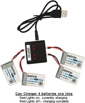 3.7v 680mah Lipo Battery and X4 Battery Charger for X708 X708W UFO 3000 Halo 3000 SNAPTAIN S5C Syma X5SW X5SW-V3 X5C X5C-1 UDI U45 U45W Blue Jay JJRC ...