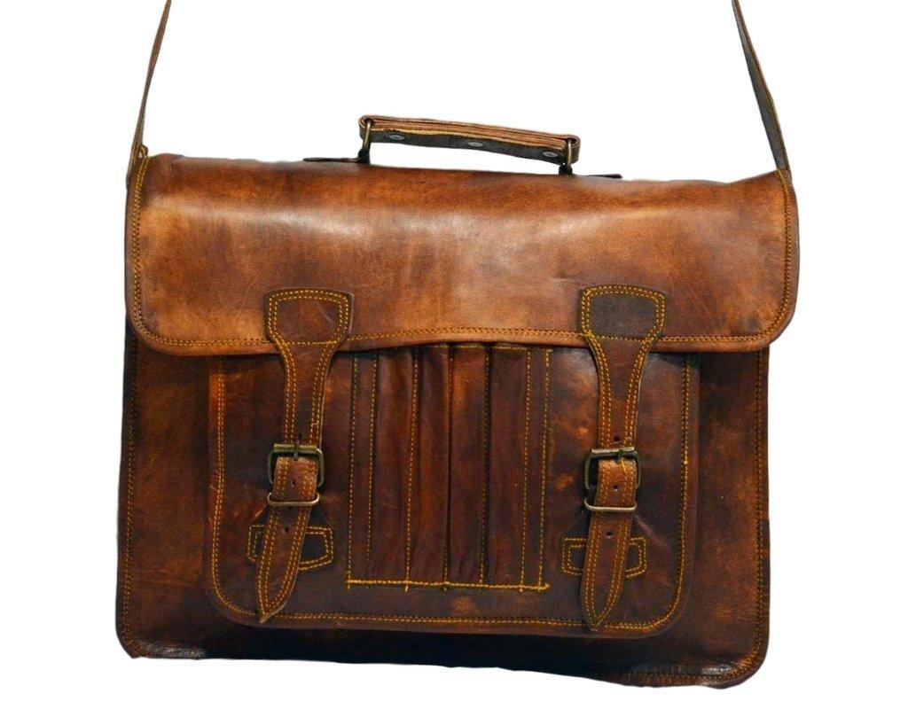 Messenger of Leather Vintage Leather Laptop Bag, Messenger Bag, 11'' x 15'' x 3.5''