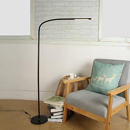 Lampara de pie Moderno atenuación lámpara de Piso Led, Sala ...