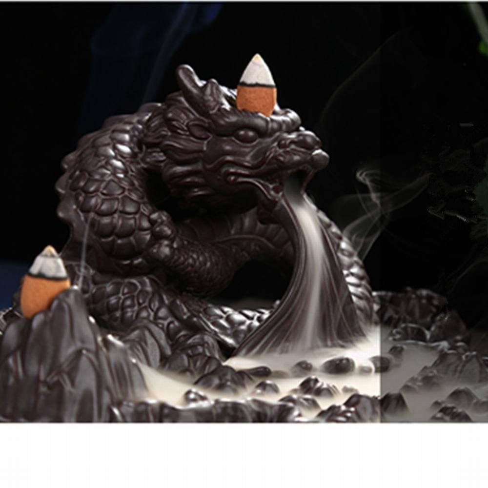Tongyou Dragon Incense Burner Holder Ceramic Desktop Decoration Home. Crafts Yoga Gift by Tongyou (Image #8)