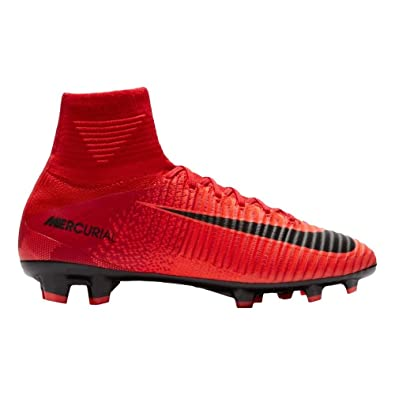 NIKE Youth Mercurial Superfly V DF FG Cleats [University Red] (4Y)