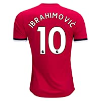 KiUong 17-18 Season Men's Home Ibrahimovic 10 Manchester United Jersey Red Size S