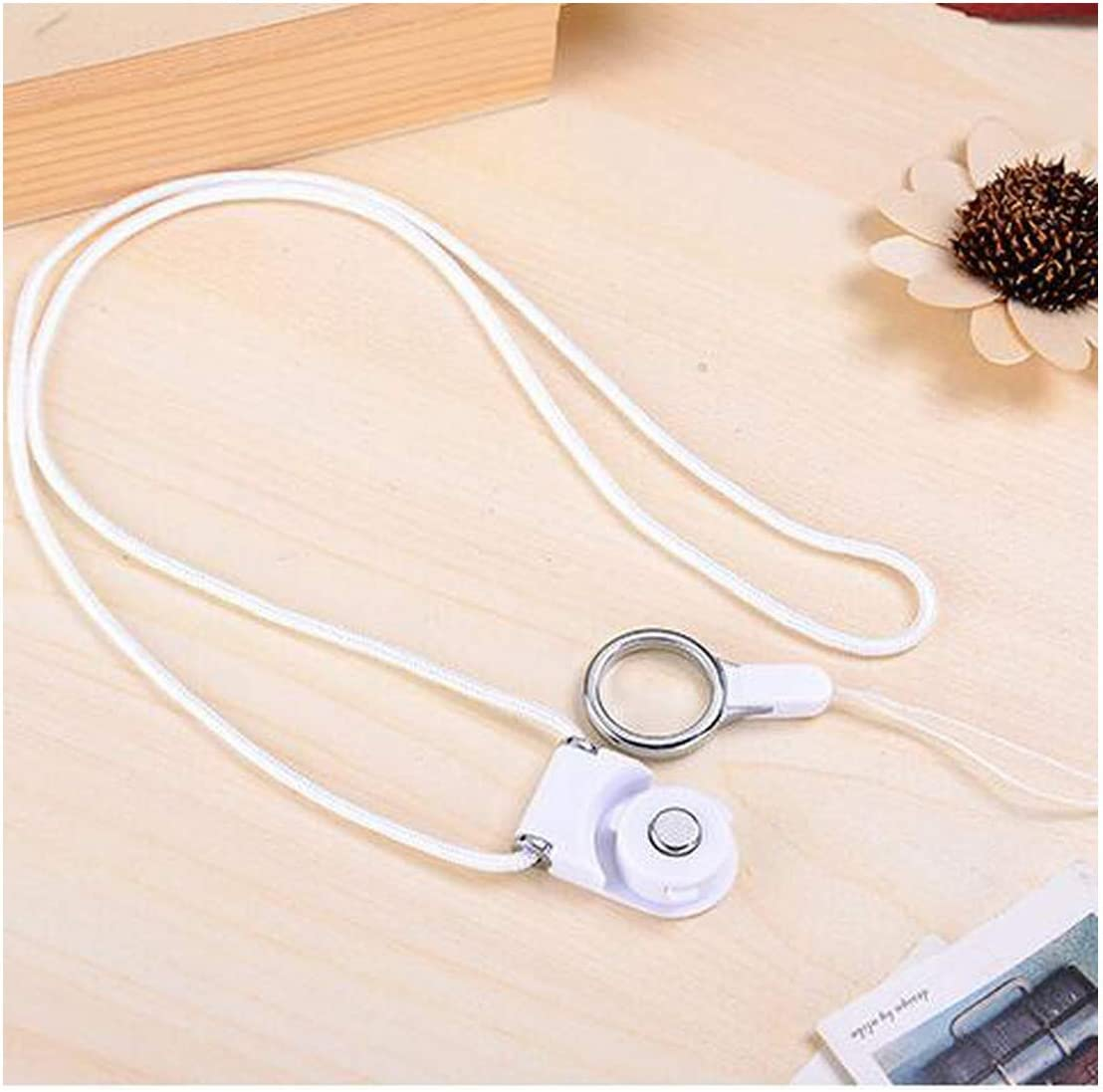 2Pcs//Lot Useful Mobile PhoNeck Lanyard Cords Strap Case for Mate 20 Honor V8 Hang Rope ID Pass Card Camera Mp3 Holder,White