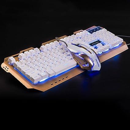 Teclados para Gamers Cable USB Interfaz Dorado Teclado ...