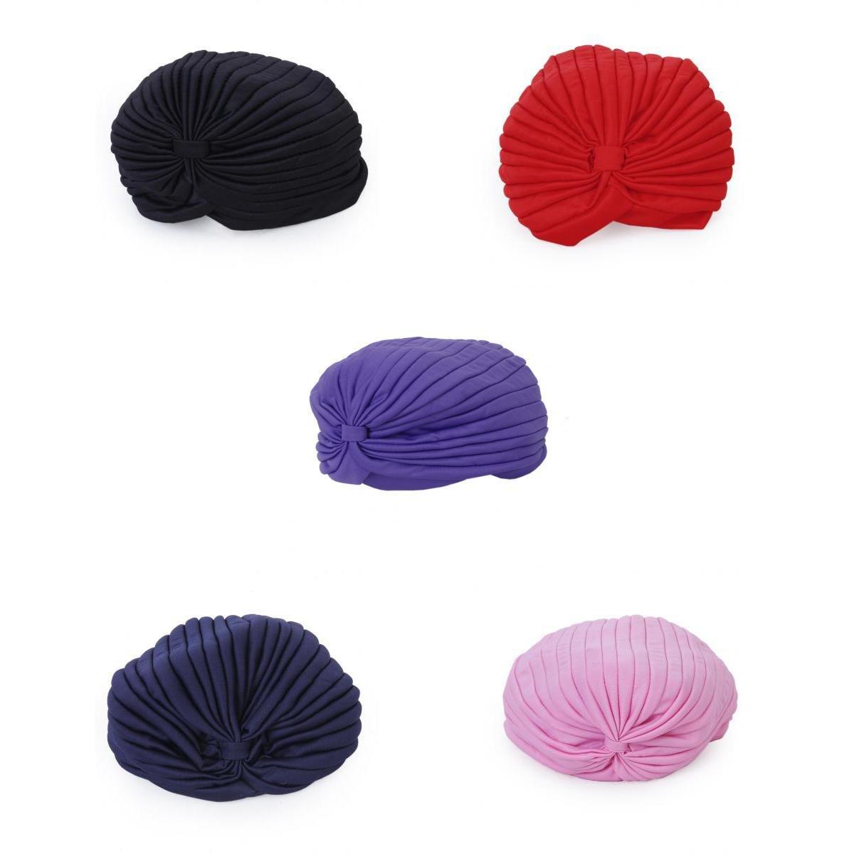 d151862d162 Segolike Set of 5PCS Assorted Colors Fashionable Headband Full Head Cover  Turban Head Wrap Hair Loss Chemo Yoga Hat Bandana Scarf  Amazon.in   Clothing   ...