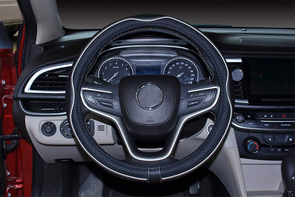 Istn Coprivolante per Auto in Pelle Microfibra 38 cm per la Maggior Parte delle Auto Nero Viola