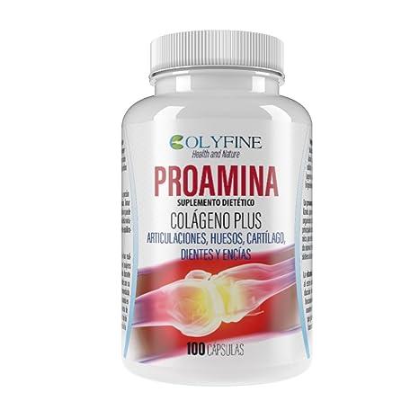 Proamina Colágeno Plus con Acido Hialurónico, Vitamina C y Condroitina+Glucosamina, 100 cápsulas