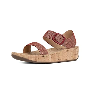 1a977929ec0 FitFlop Women s Bon Backstrap Wedge Sandal