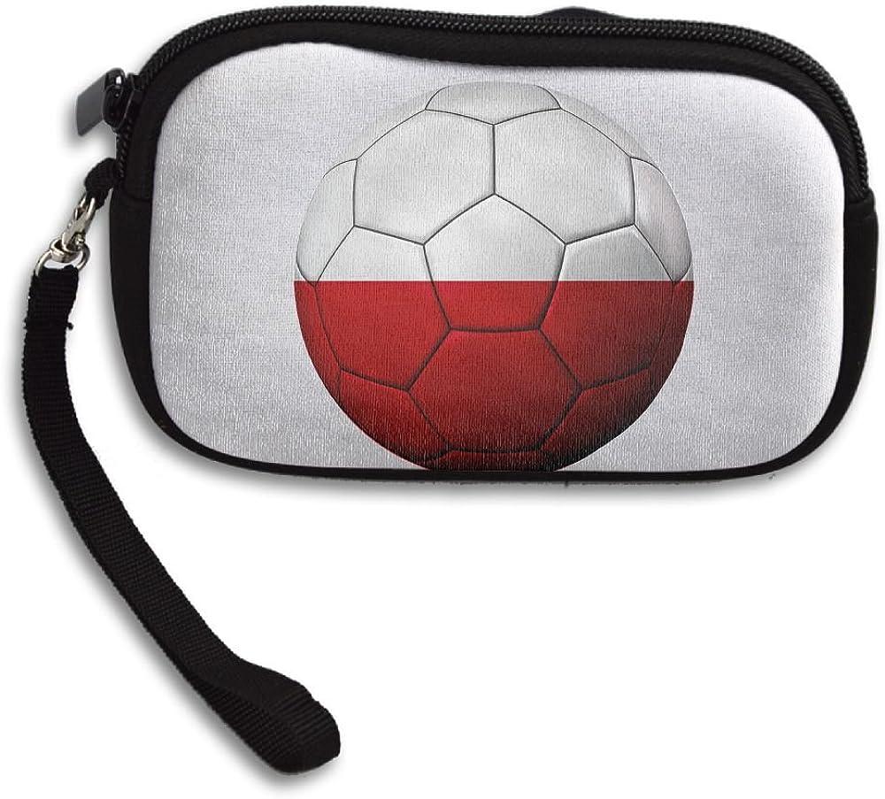 Football Poland Flag Deluxe Printing Small Purse Portable Receiving Bag