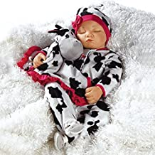 Paradise Galleries Weighted Realistic Sleeping Baby Doll, Over The Moooon, 19 inch Vinyl Great for Reborn