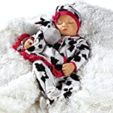Paradise Galleries Realistic Newborn Baby Doll Over The Moooon - 19 inch Sleeping Girl in GentleTouch Vinyl