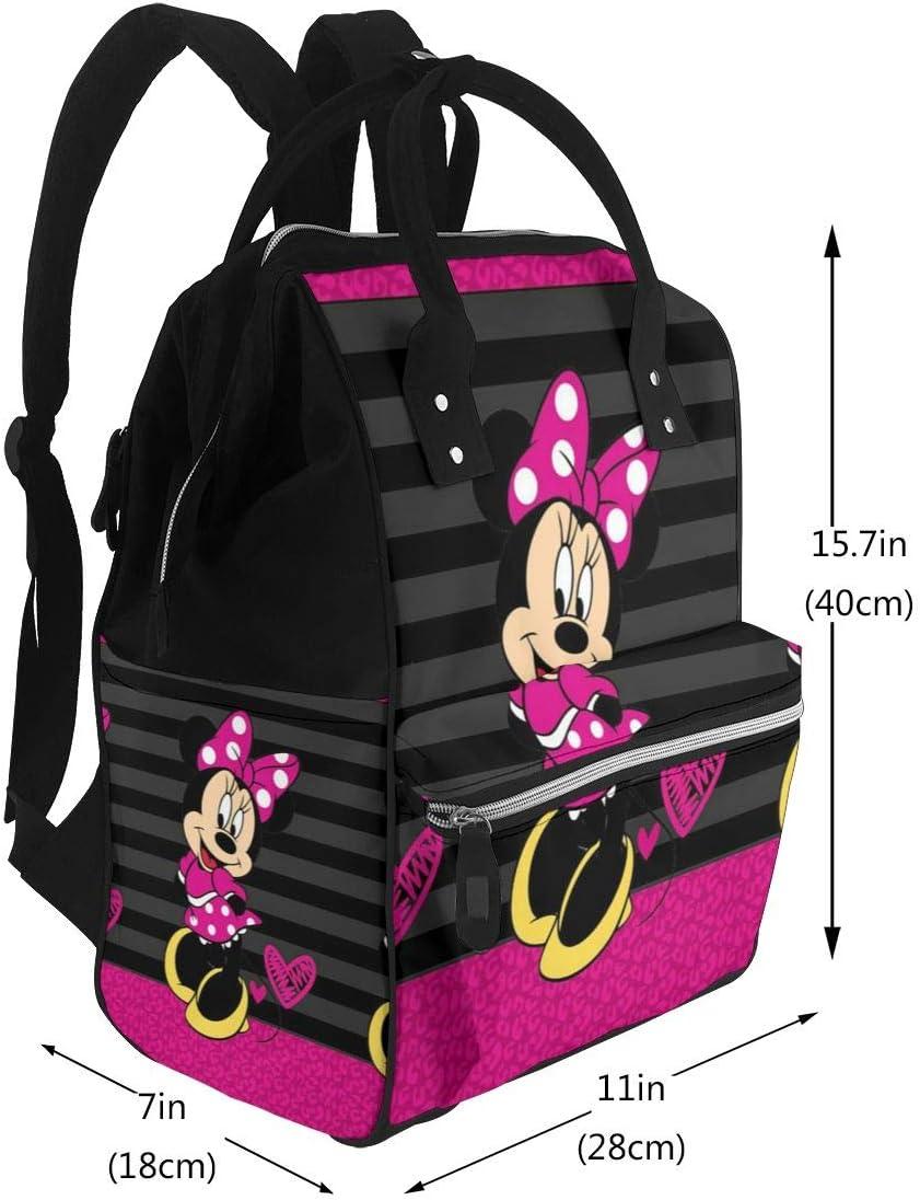 Mignon Minnie Mouse Multifonction Imperm/éable Sac /à dos de voyage Maternit/é B/éb/é Sacs /à langer Sac /à langer