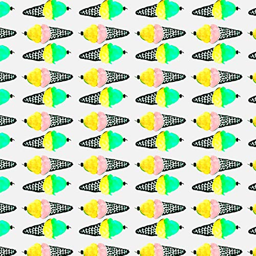 (GRAPHICS & MORE Ice Cream Cones Pattern Premium Roll Gift Wrap Wrapping Paper)