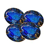 Geode Azurite Azure Gold Design on Sandstone Drink