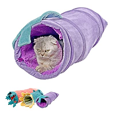MYIDEA Collapsible Cat Tunnel Tubes Toys