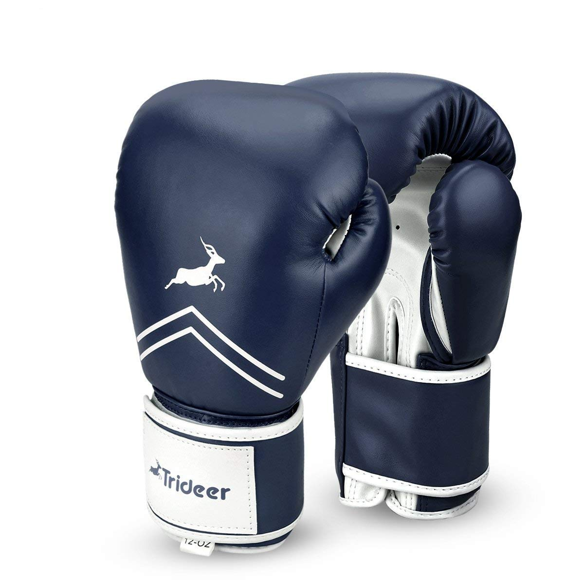 Trideer Pro Grade Boxing Gloves, Kickboxing Bagwork Gel Sparring Training Gloves, Muay Thai Style Punching Bag Mitts, Fight Gloves Men & Women (Midnight Blue, 12 oz)
