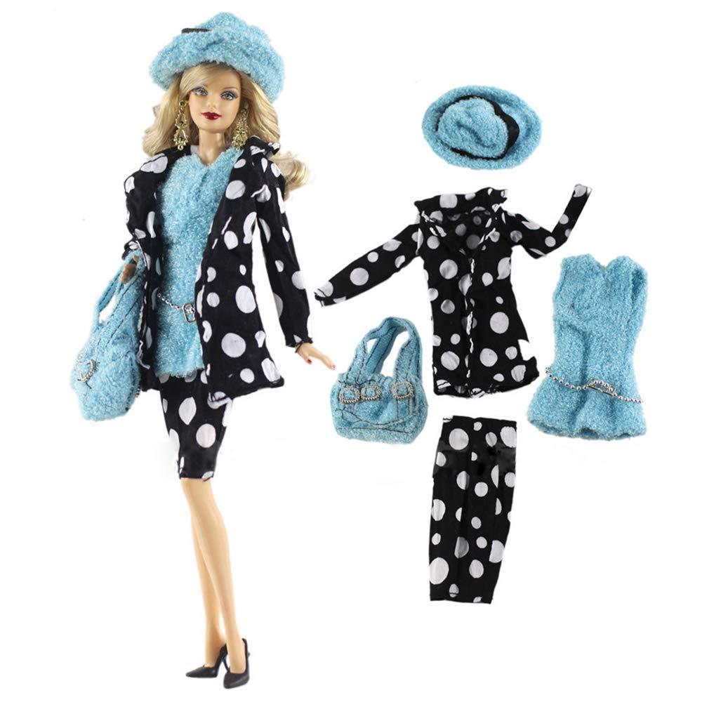 WENTS Ropa para 29cm Mu/ñecas 2 Conjuntos Moda Abrigo de oto/ño Felpa de Invierno Vestidos Pantalones Zapatos Sombrero Rompevientos para 29cm Mu/ñecas Accesorios Beb/é Estilo Aleatorio
