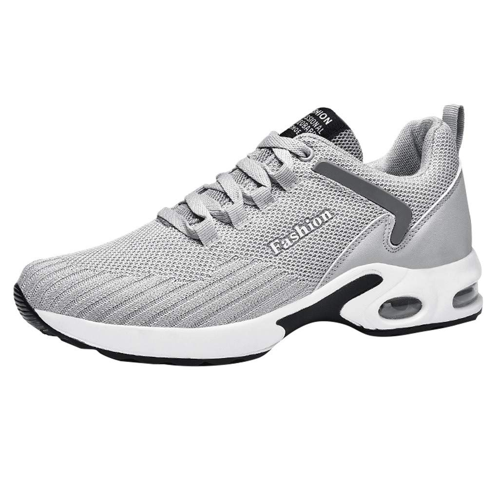 refulgence Men's Sneakers Breathable Comfortable Casual Lightweight Go Walk Running Shoes (Gray,US:7.5) by refulgence