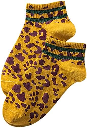 MerryWould Calcetines Cortos Mujer, Calcetines de Algodón de Leopardo Calcetines de Deporte de Invierno Tobillo del Calcetín para mujer Chicos, Chicas: Amazon.es: Ropa y accesorios