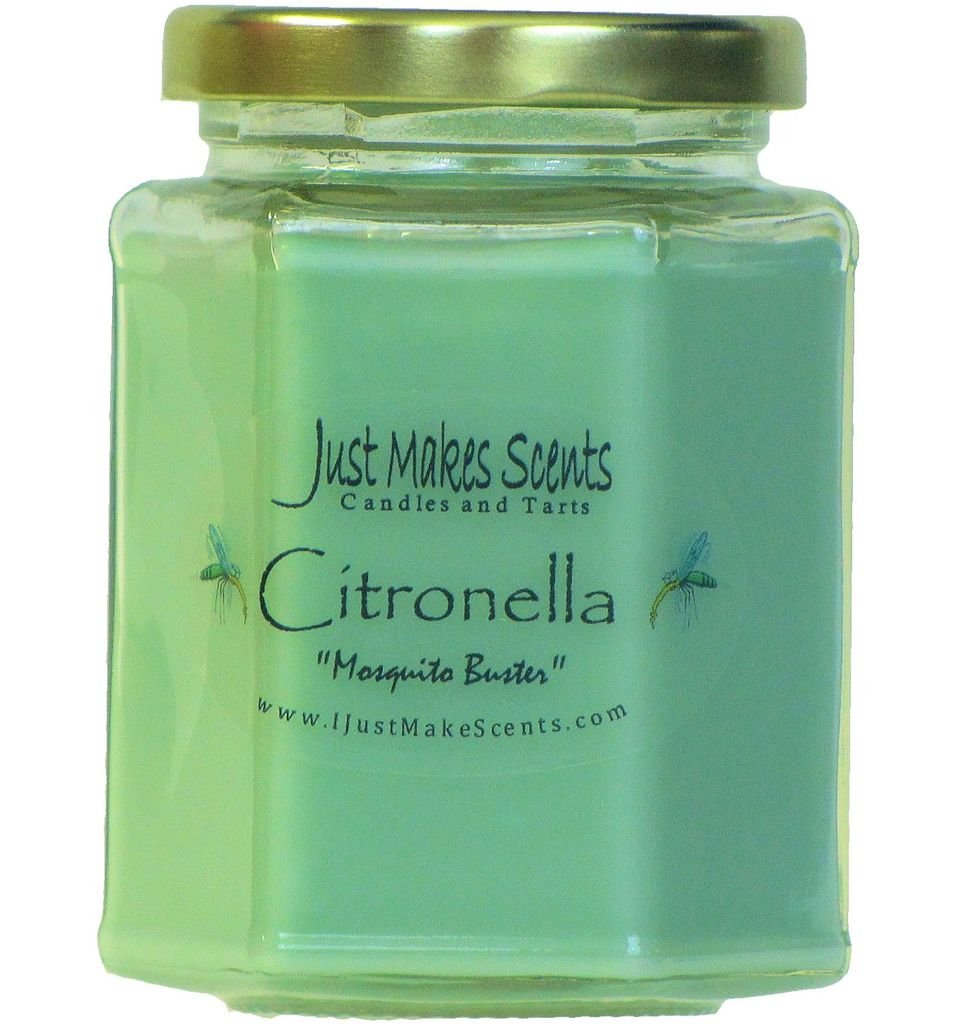 Citronella (Mosquito Repellant) Scented Blended Soy Candle for INDOOR Use by Just Makes Scents (8 fl oz) by Just Makes Scents Candles & Gifts