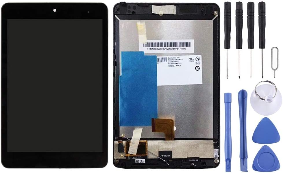LCD Screen Mobile Phone and Digitizer Full Assembly with Frame for Lenovo Miix 3-830 Color : Black Black