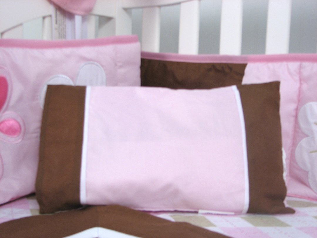 SoHo Pink and Brown Sweetie Garden Baby Crib Nursery Bedding Set 13 pcs included Diaper Bag with Changing Pad & Bottle Case