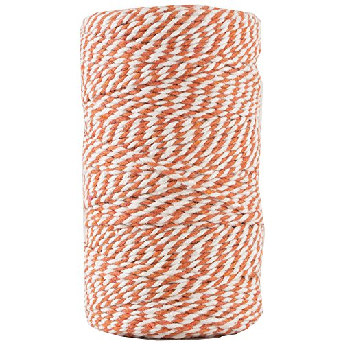 JAM PAPER Twine - Orange & White Baker's Twine - 109 Yards - Sold Individually]()