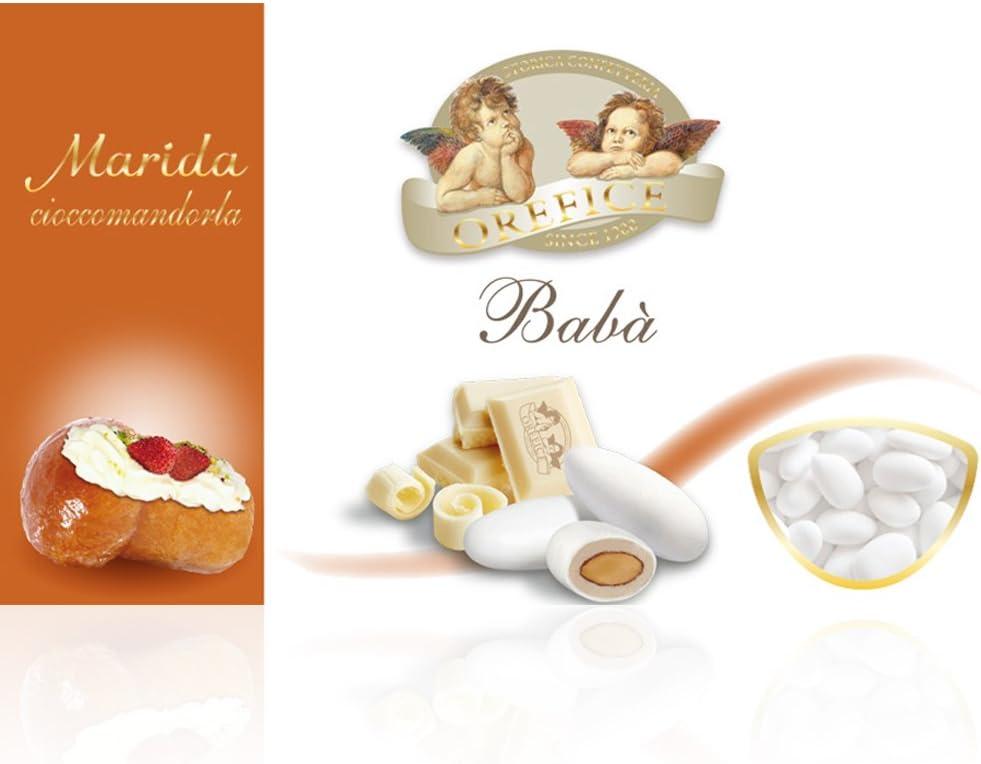 Almendras azucaradas con crema napolitana de Ron Baba 500gr (90 Unidades)