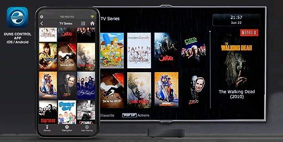 Dune HD RealBox 4K | ULTRA HD | HDR10 + | 3D | DLNA | Reproductor multimedia de transmisión y Smart Android TV Box | RTD1395 | 2 USB, HDMI, WiFi 802.11ac, MKV, H.265, 4Kp60: Amazon.es: Electrónica