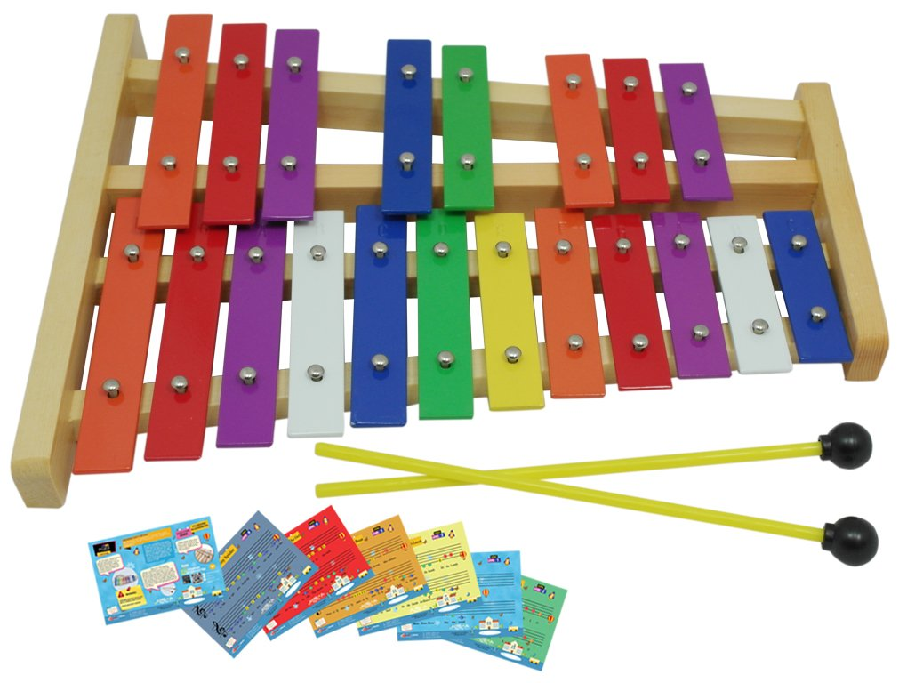 D'Luca TL25D 20 Notes Full Chromatic Xylophone Glockenspiel with Music Cards