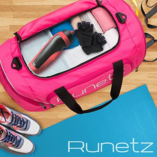 Runetz Gym Bag for Women and Men Duffle Bag with Wet Pocket ... a70920c8b9397
